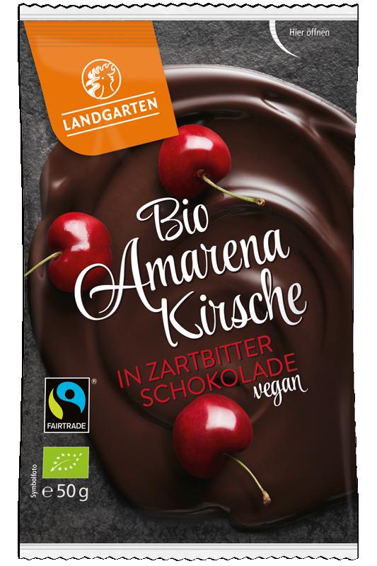 Bio Amarenakirsche in Zartbitter-Schokolade