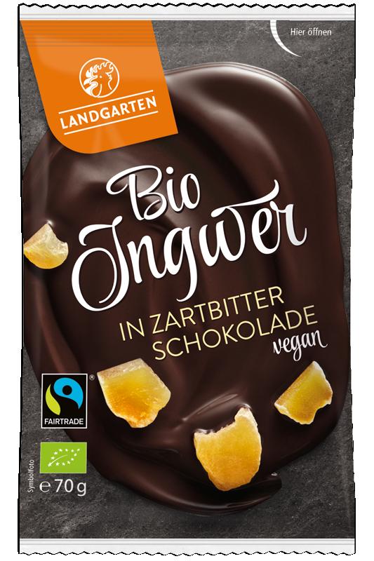 Bio Ingwer in Zartbitter-Schokolade