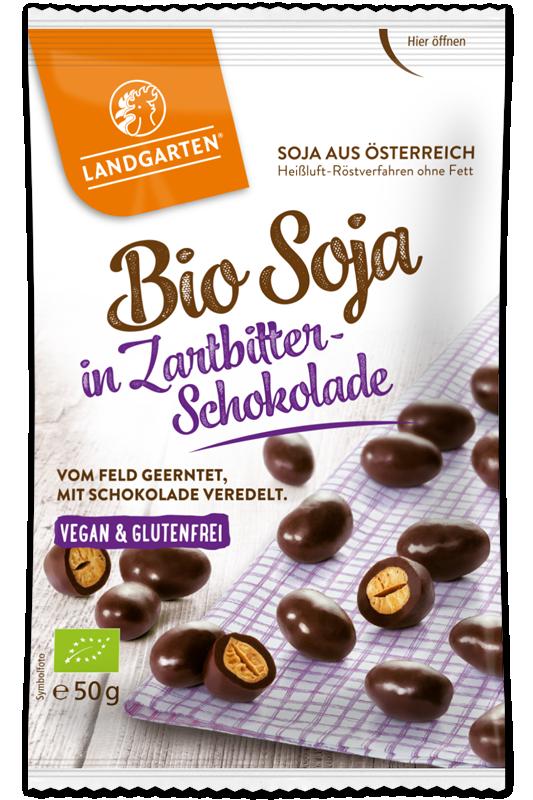 Bio Soja in Zartbitter-Schokolade
