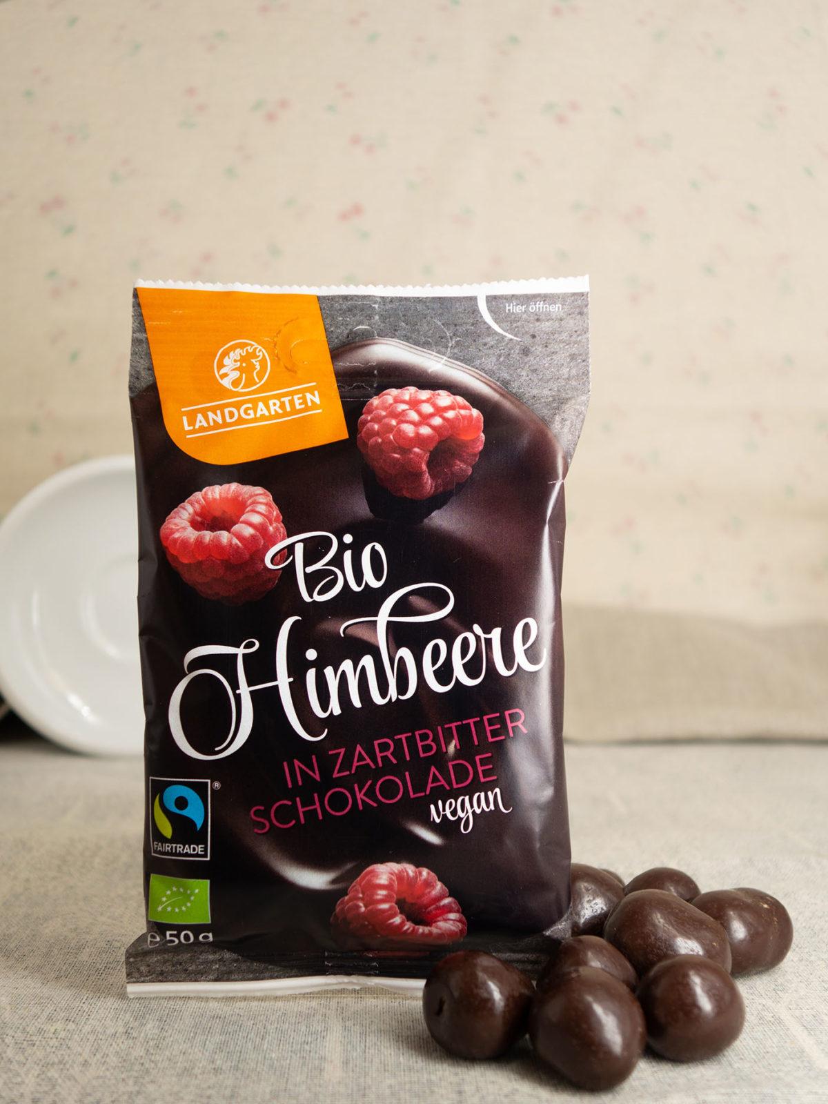 Bio Himbeere in Zartbitter-Schokolade